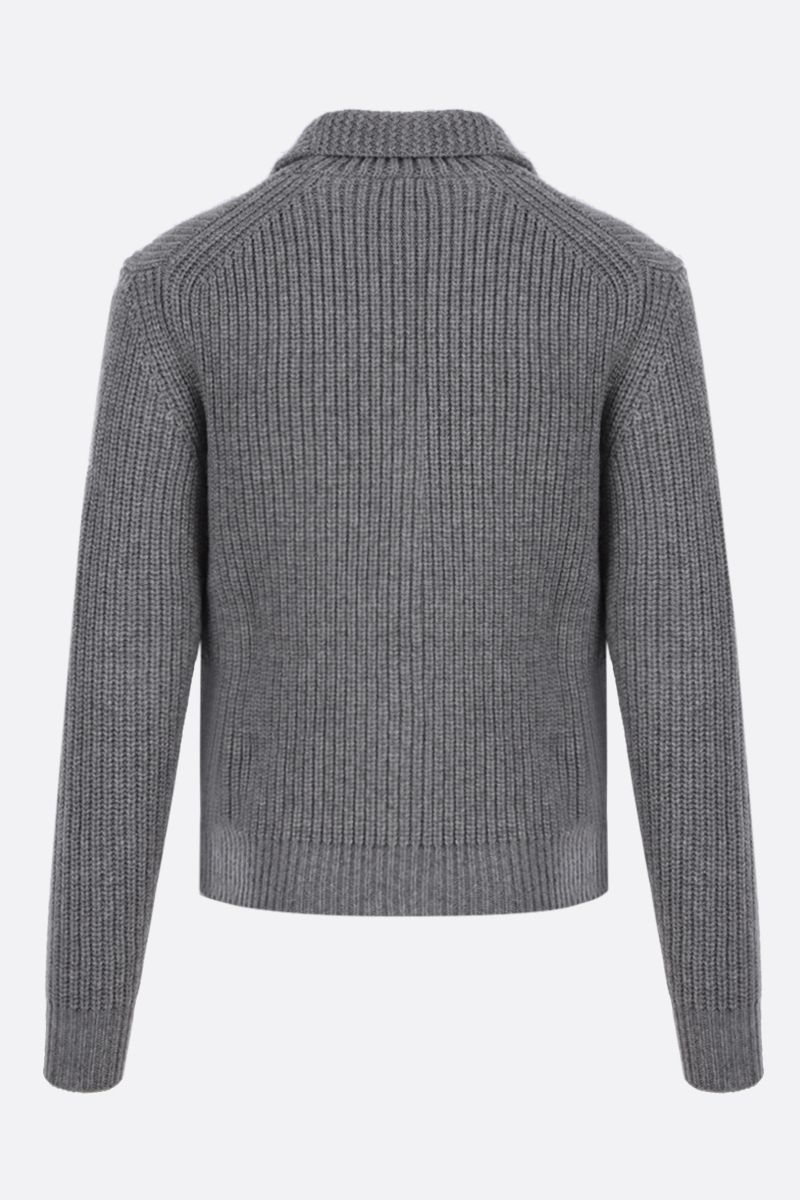 TOM FORD: cashmere mohair blend cardigan Color Grey_2