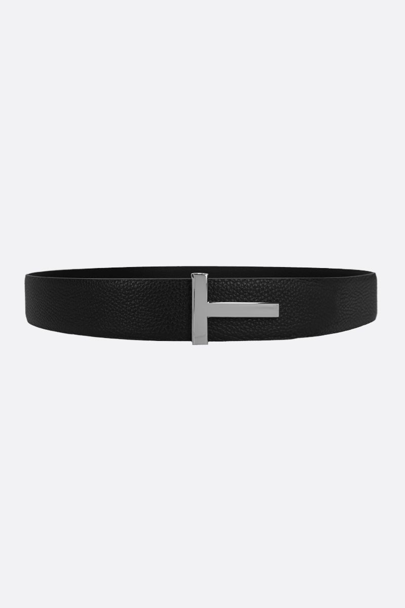 TOM FORD: T-Icon grainy leather reversible belt_2