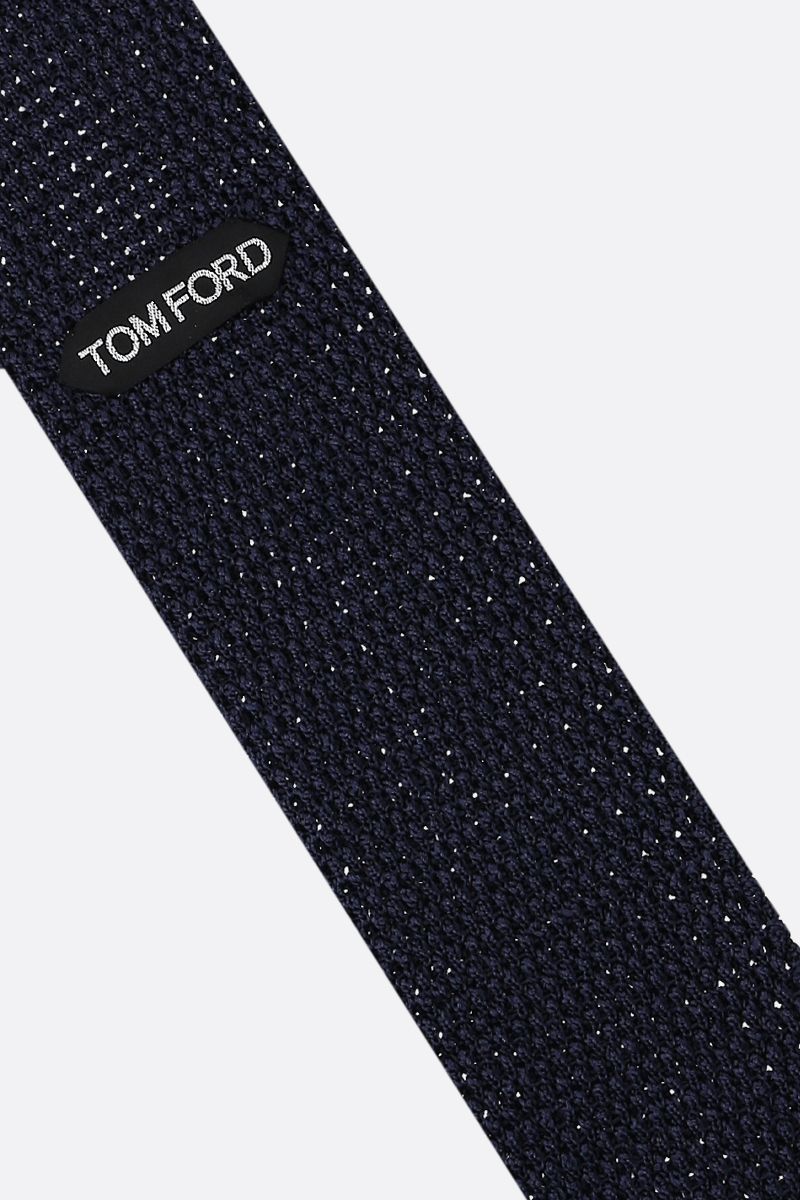 TOM FORD: silk knit tie Color Blue_2