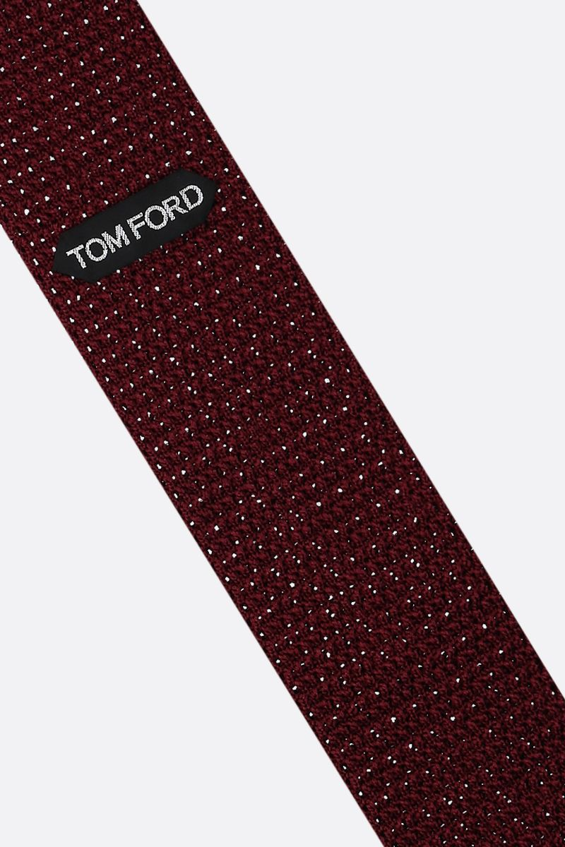 TOM FORD: silk knit tie Color Red_2