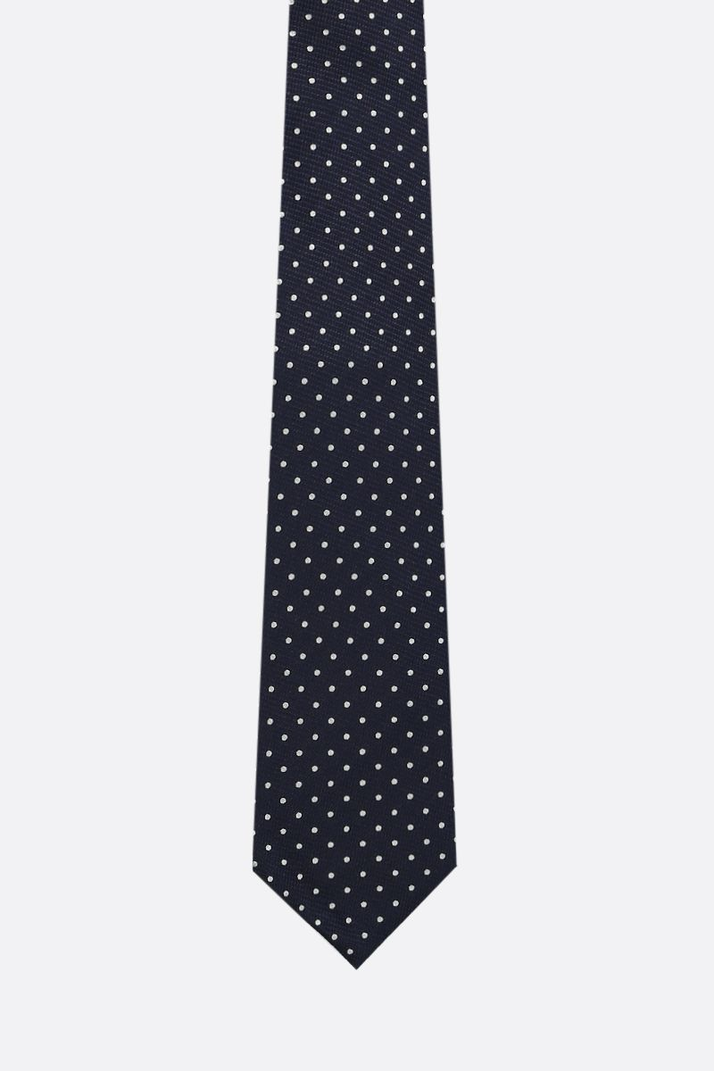 TOM FORD: polka-dot silk tie Color Blue_1