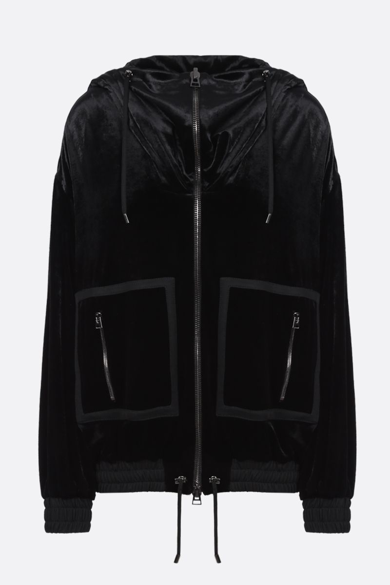 TOM FORD: chenille full-zip hoodie Color Black_1