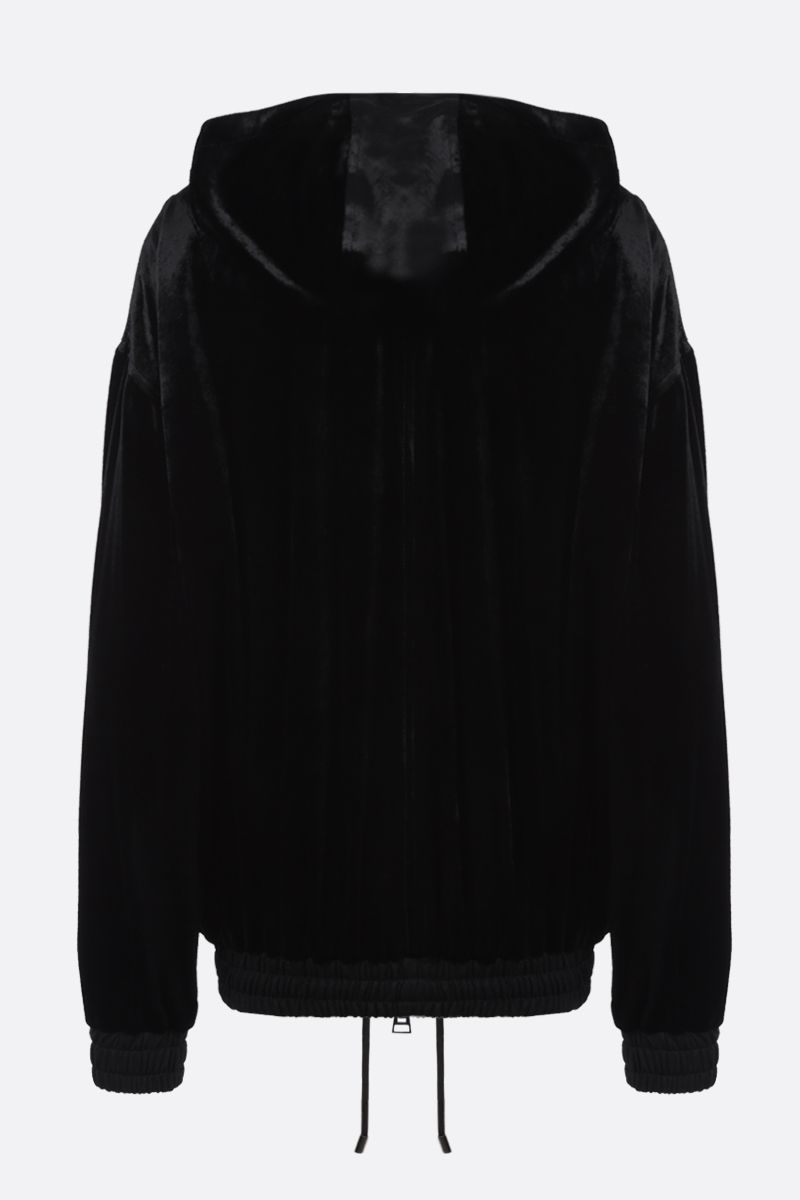 TOM FORD: chenille full-zip hoodie Color Black_2
