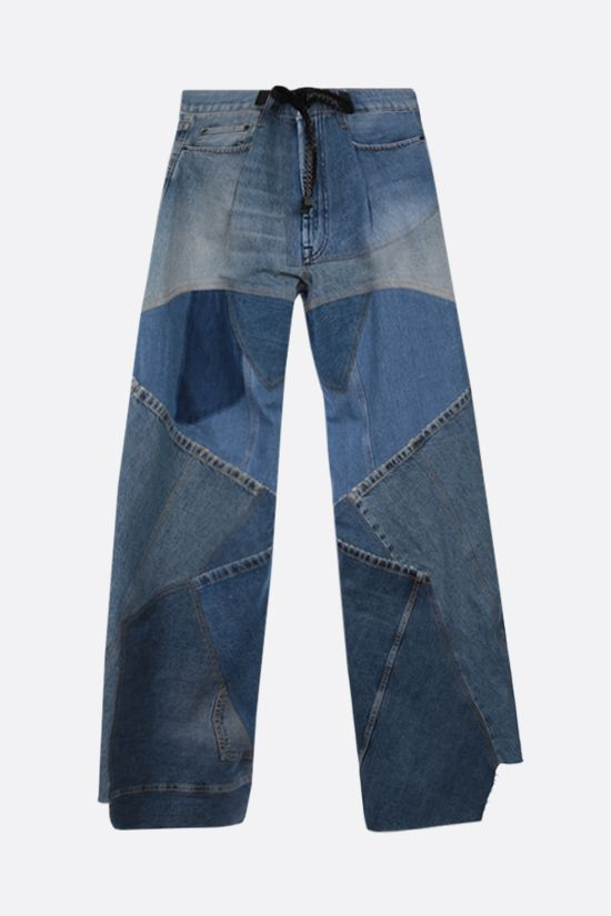 TOM FORD: wide-leg patchwork jeans Color Blue_1