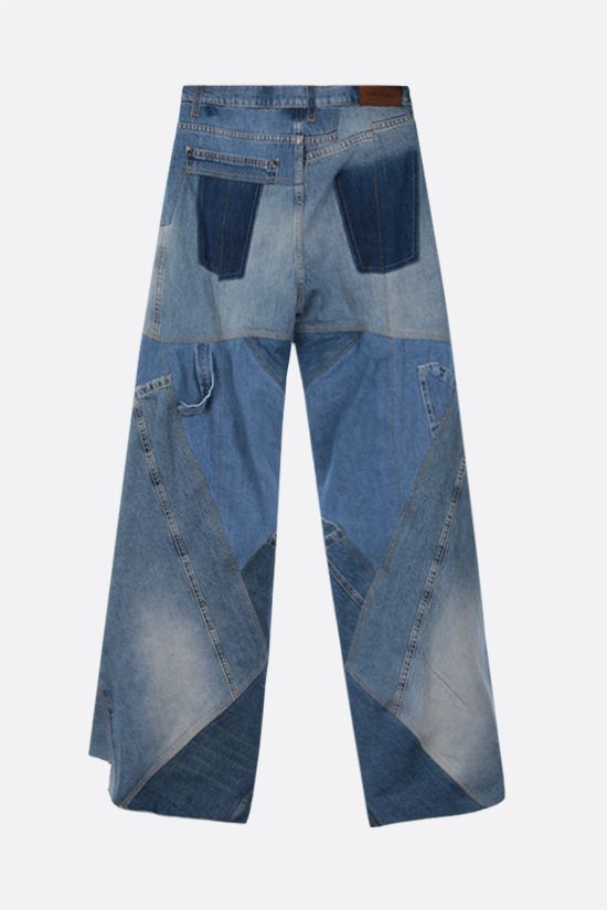 TOM FORD: wide-leg patchwork jeans Color Blue_2