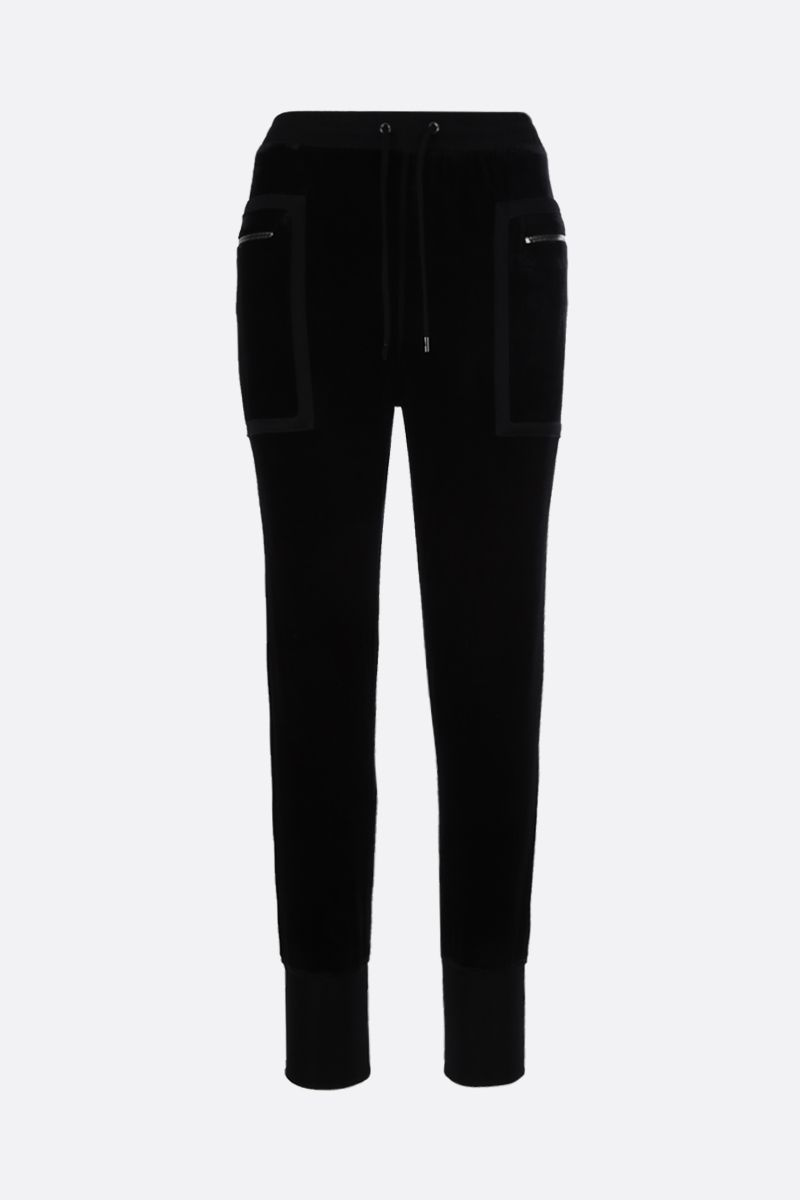 TOM FORD: chenille joggers Color Black_1