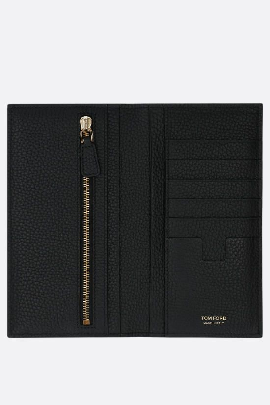 TOM FORD: grainy leather vertical wallet Color Black_2