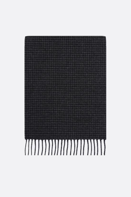 TOM FORD: houndstooth wool cashmere blend scarf Color Grey_1