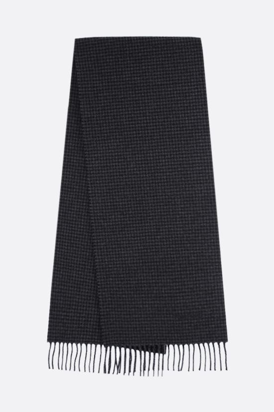TOM FORD: houndstooth wool cashmere blend scarf Color Grey_2