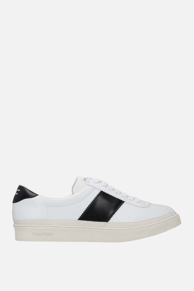 TOM FORD: Bannister smooth leather sneakers Color Black_1