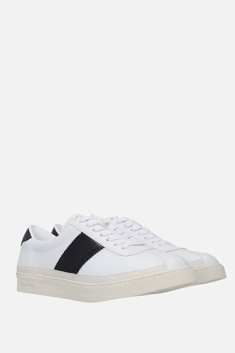 TOM FORD: Bannister smooth leather sneakers Color Black_2