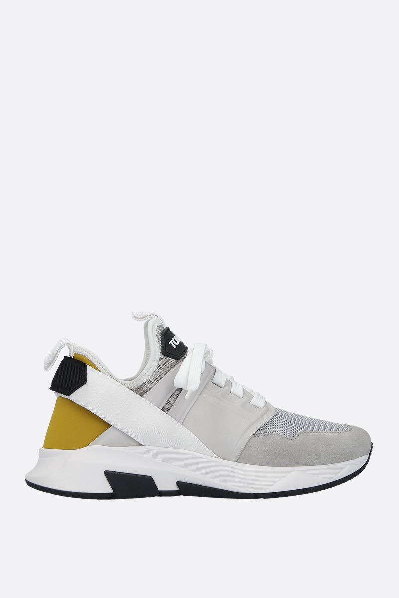TOM FORD: Jago sneakers in a mix of materials Color Silver_1