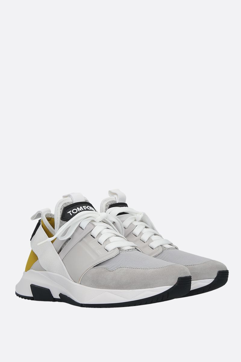 TOM FORD: Jago sneakers in a mix of materials Color Silver_2
