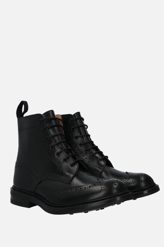 TRICKER'S: Stow shiny leather country boots Color Black_3
