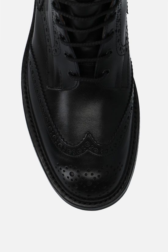 TRICKER'S: Stow shiny leather country boots Color Black_5