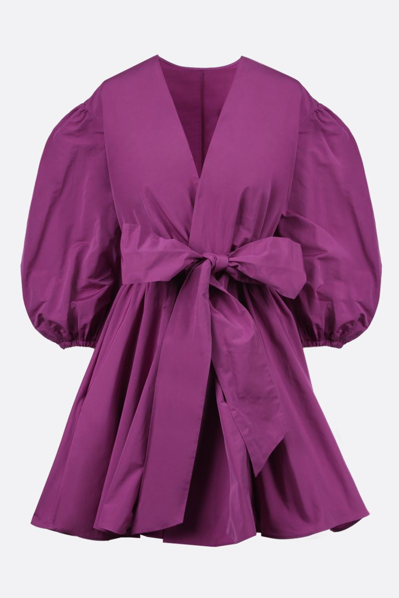 VALENTINO: micro faille wrap dress Color Pink_1