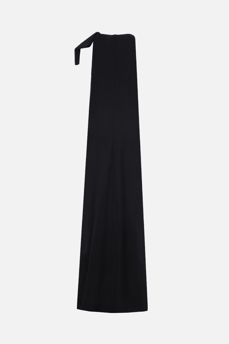 VALENTINO: bow-detailed cady sleeveless dress Color Black_2