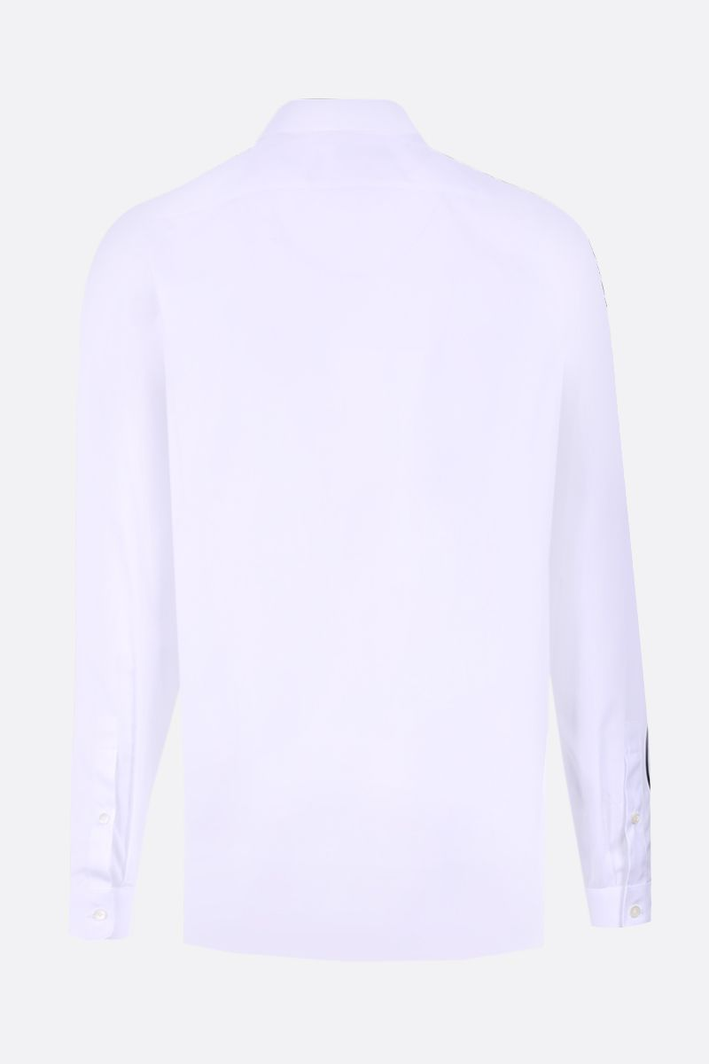 VALENTINO: VLOGO print cotton poplin shirt Color White_2