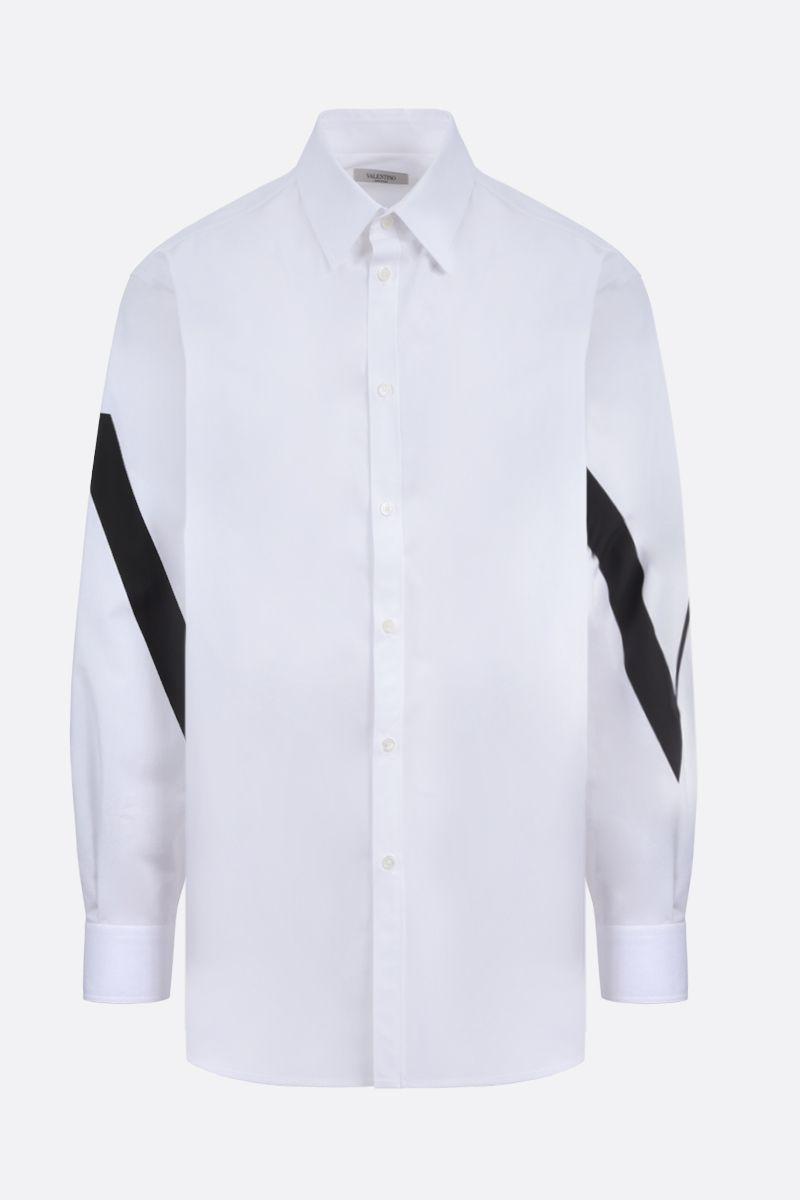 VALENTINO: VLTN cotton shirt Color White_1