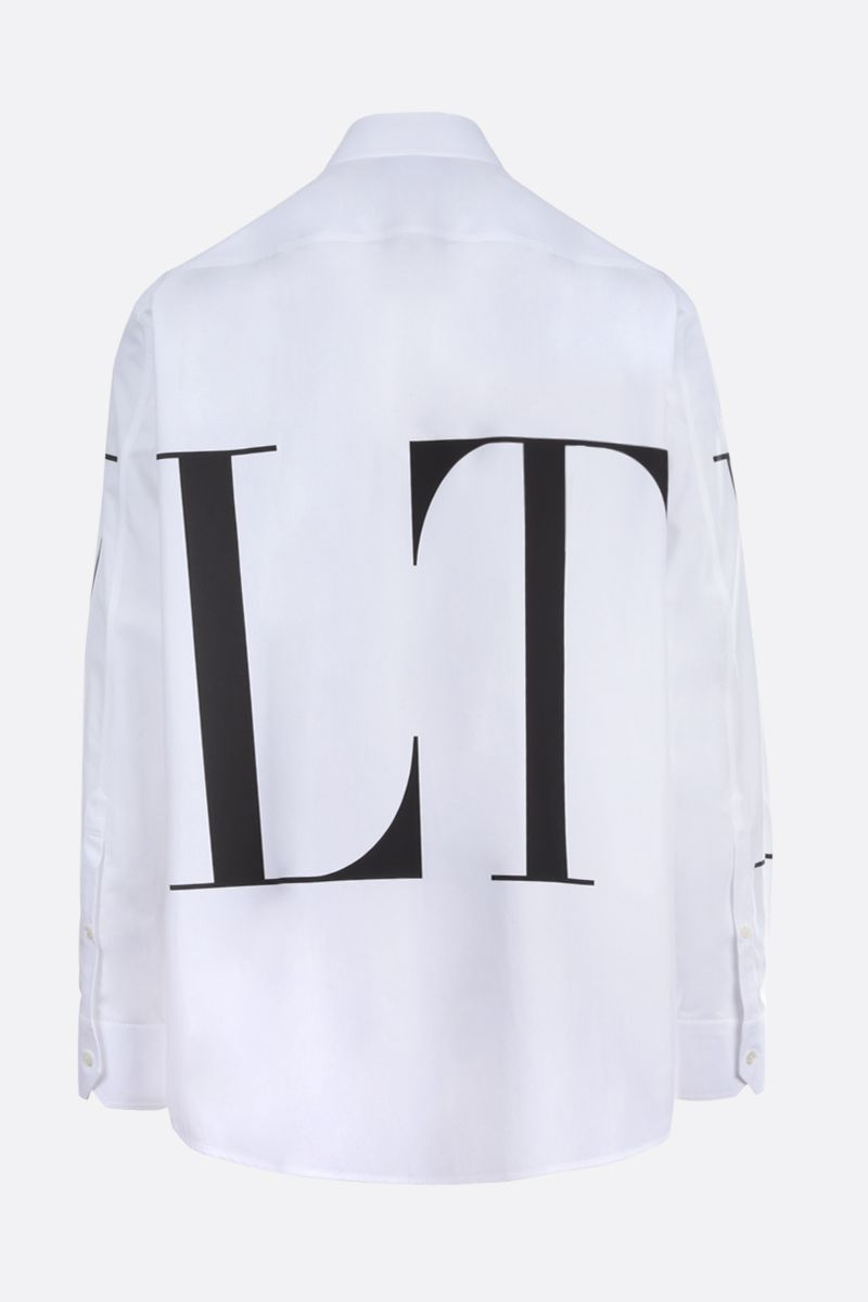 VALENTINO: VLTN cotton shirt Color White_2