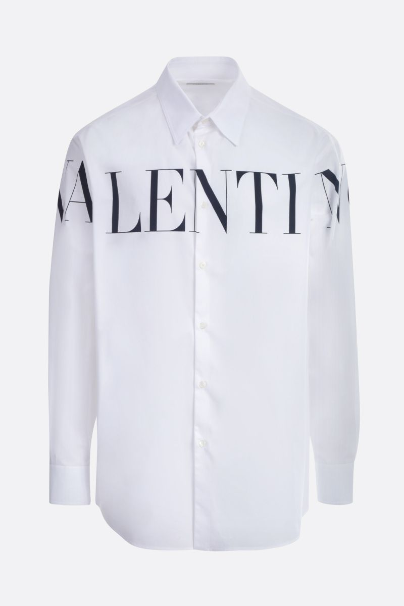 VALENTINO: Valentino print cotton shirt Color White_1