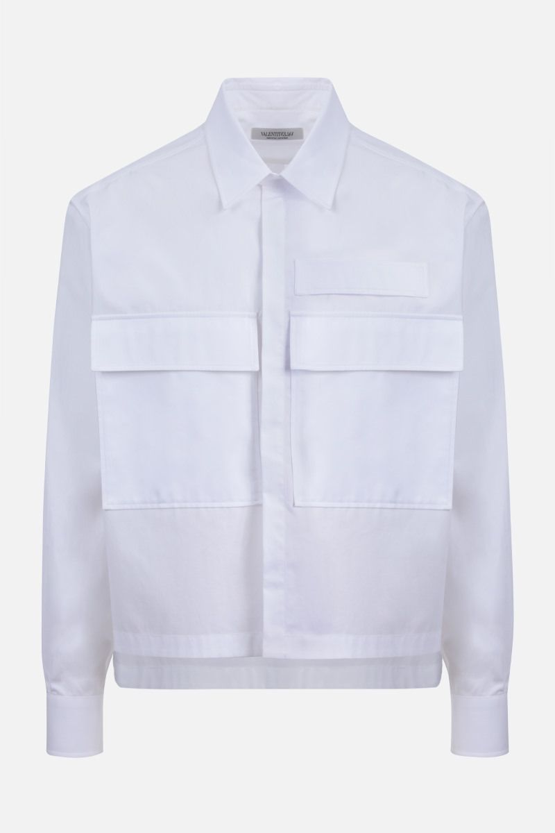 VALENTINO: boxy-fit cotton shirt Color White_1