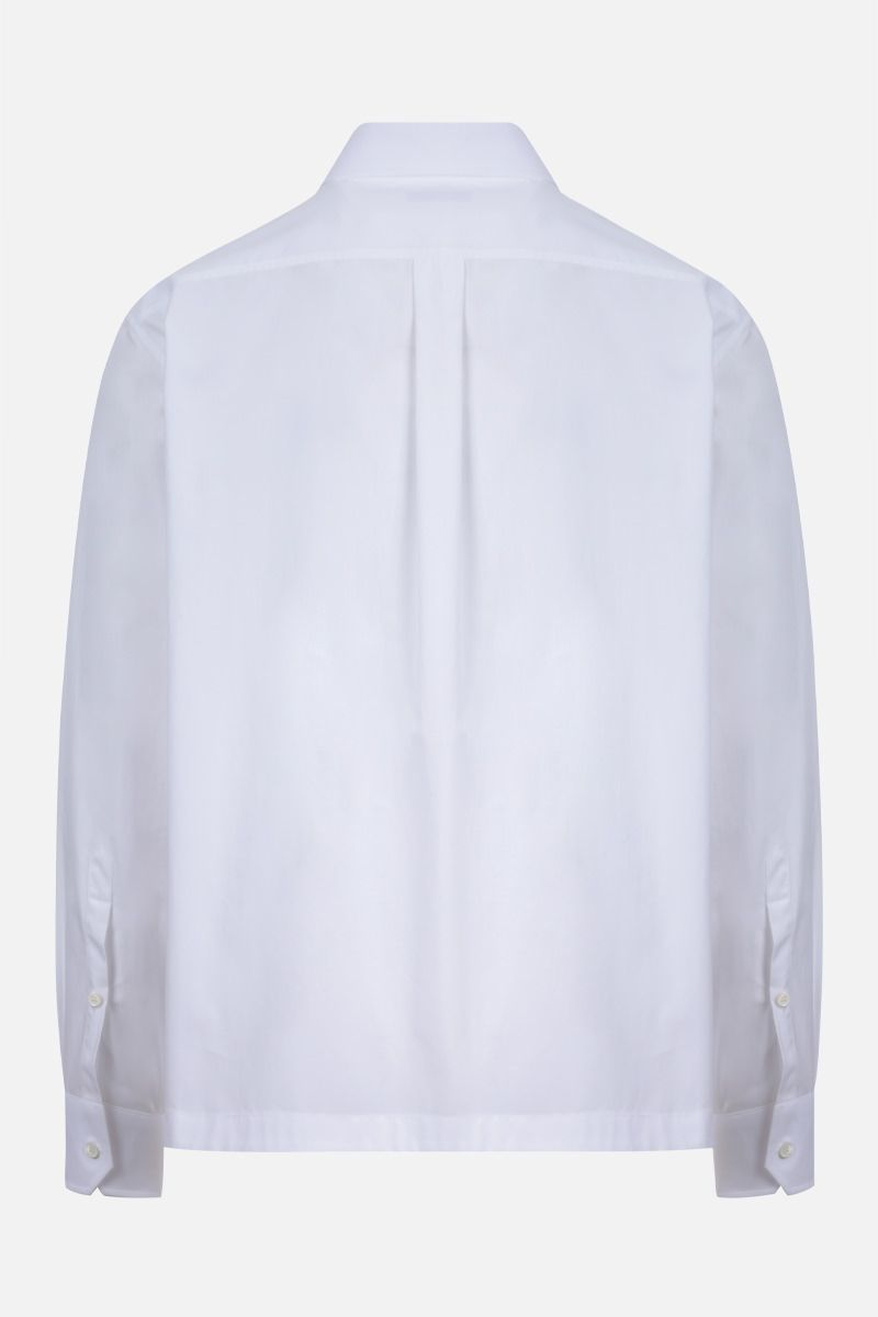 VALENTINO: boxy-fit cotton shirt Color White_2