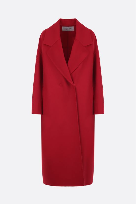VALENTINO: oversize wool cashmere blend coat Color Red_1