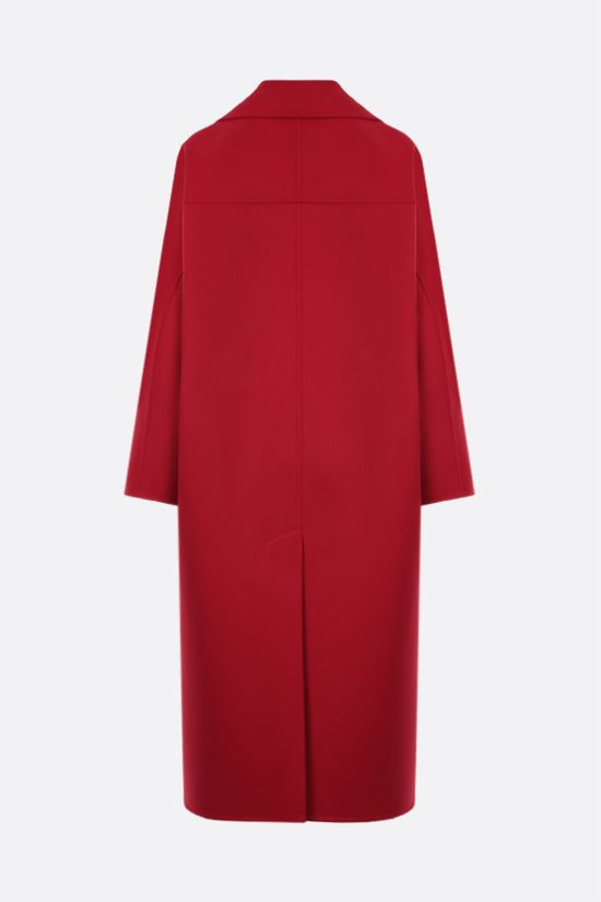 VALENTINO: oversize wool cashmere blend coat Color Red_2