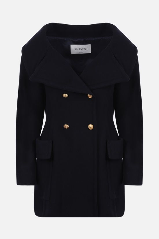 VALENTINO: double-breasted Drill Drap coat Color Blue_1