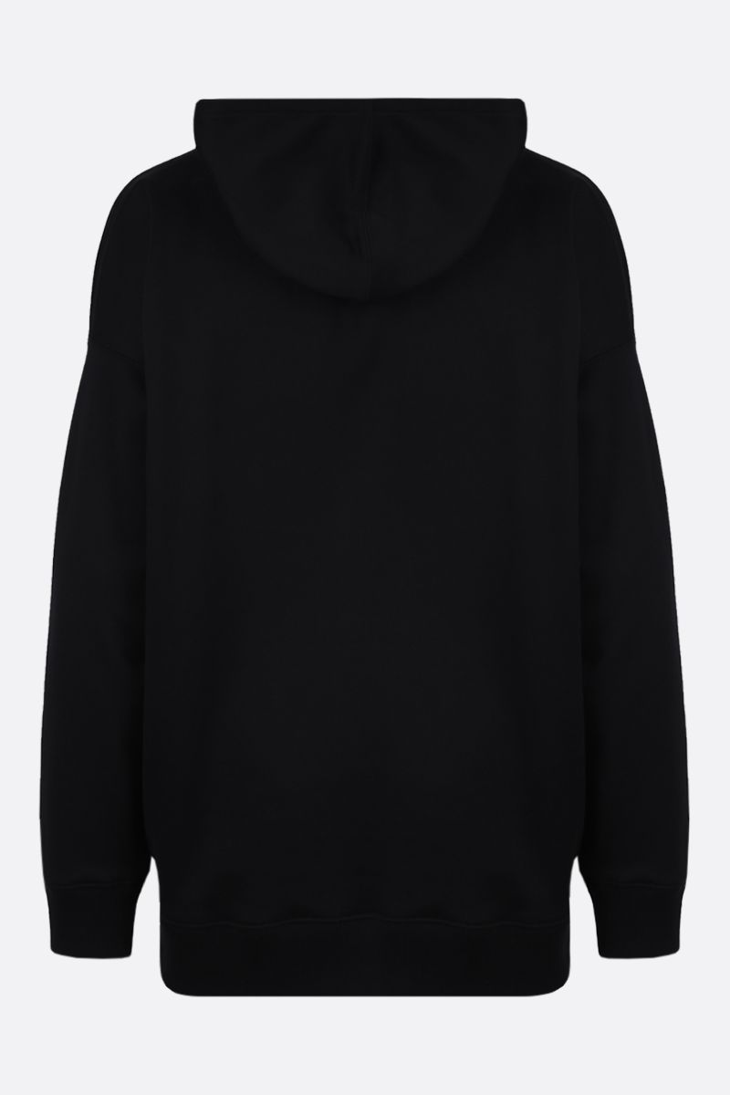 VALENTINO: VLTN cotton blend hoodie Color Black_2