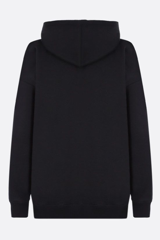 VALENTINO: VLOGO cotton blend hoodie Color Black_2