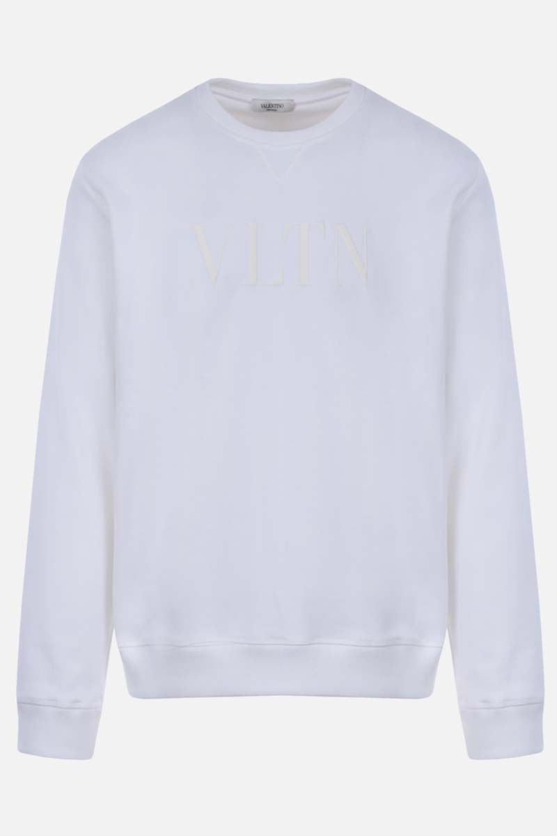 VALENTINO: VLTN cotton blend sweatshirt Color White_1