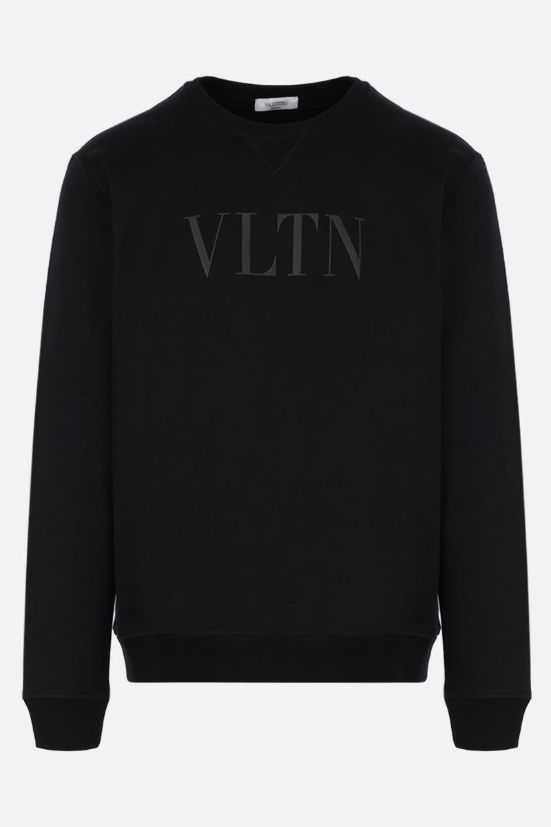 VALENTINO: VLTN cotton blend sweatshirt Color Black_1