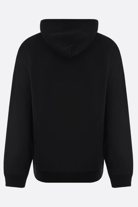 VALENTINO: VLTN tag technical jersey hoodie Color Black_2