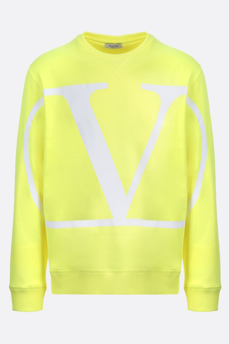 VALENTINO: VLOGO stretch cotton sweatshirt Color Red_1