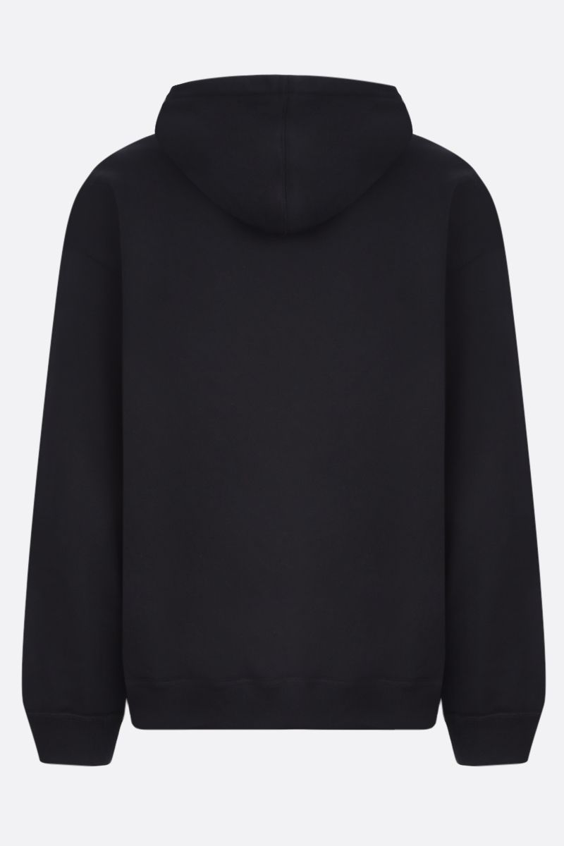 VALENTINO: VLTN stretch cotton hoodie Color Black_2