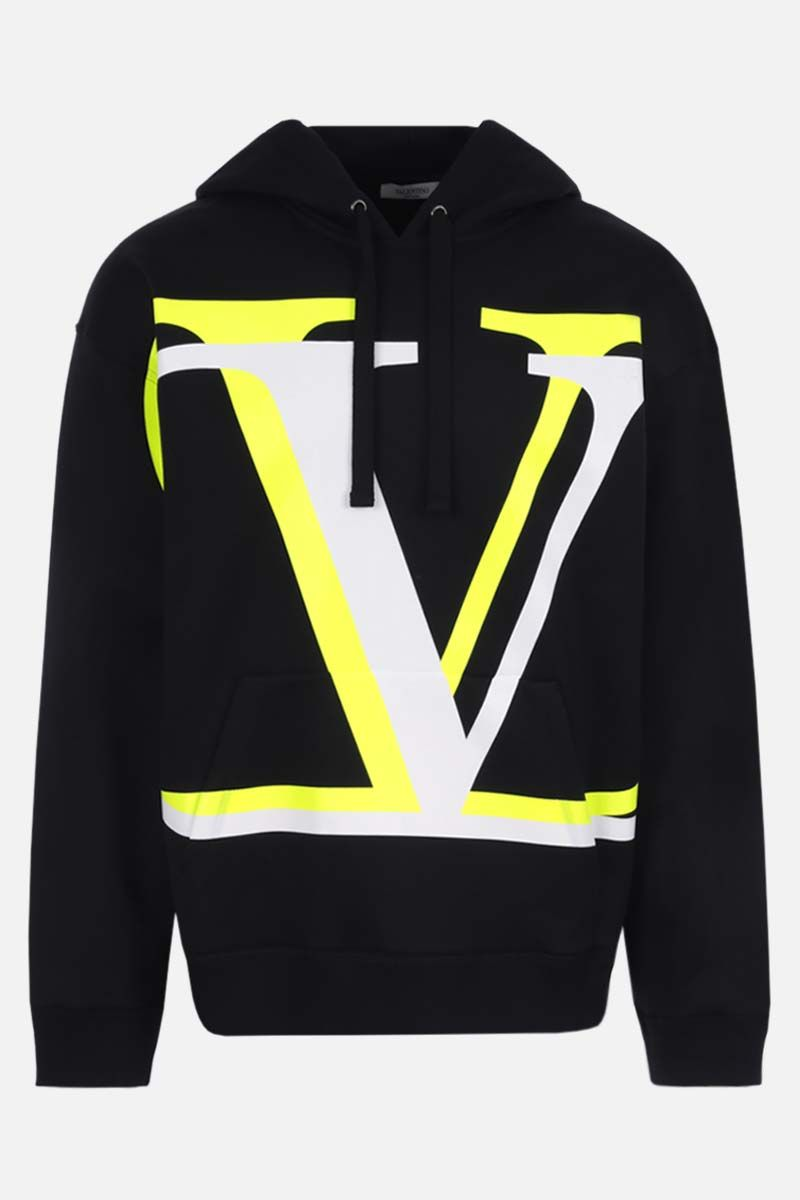 VALENTINO: VLOGO Shadow cotton blend hoodie Color Black_1