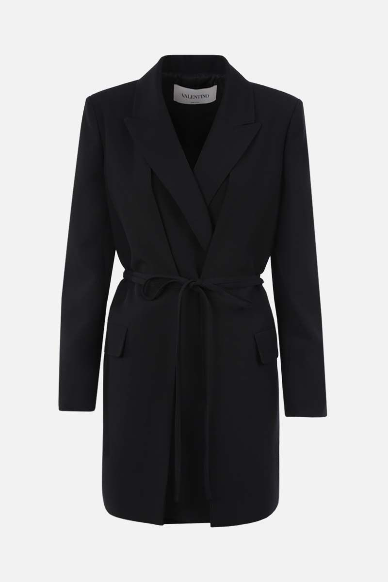 VALENTINO: wrap wool jacket Color Black_1