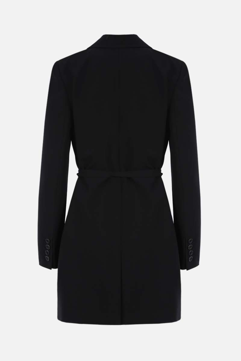 VALENTINO: wrap wool jacket Color Black_2