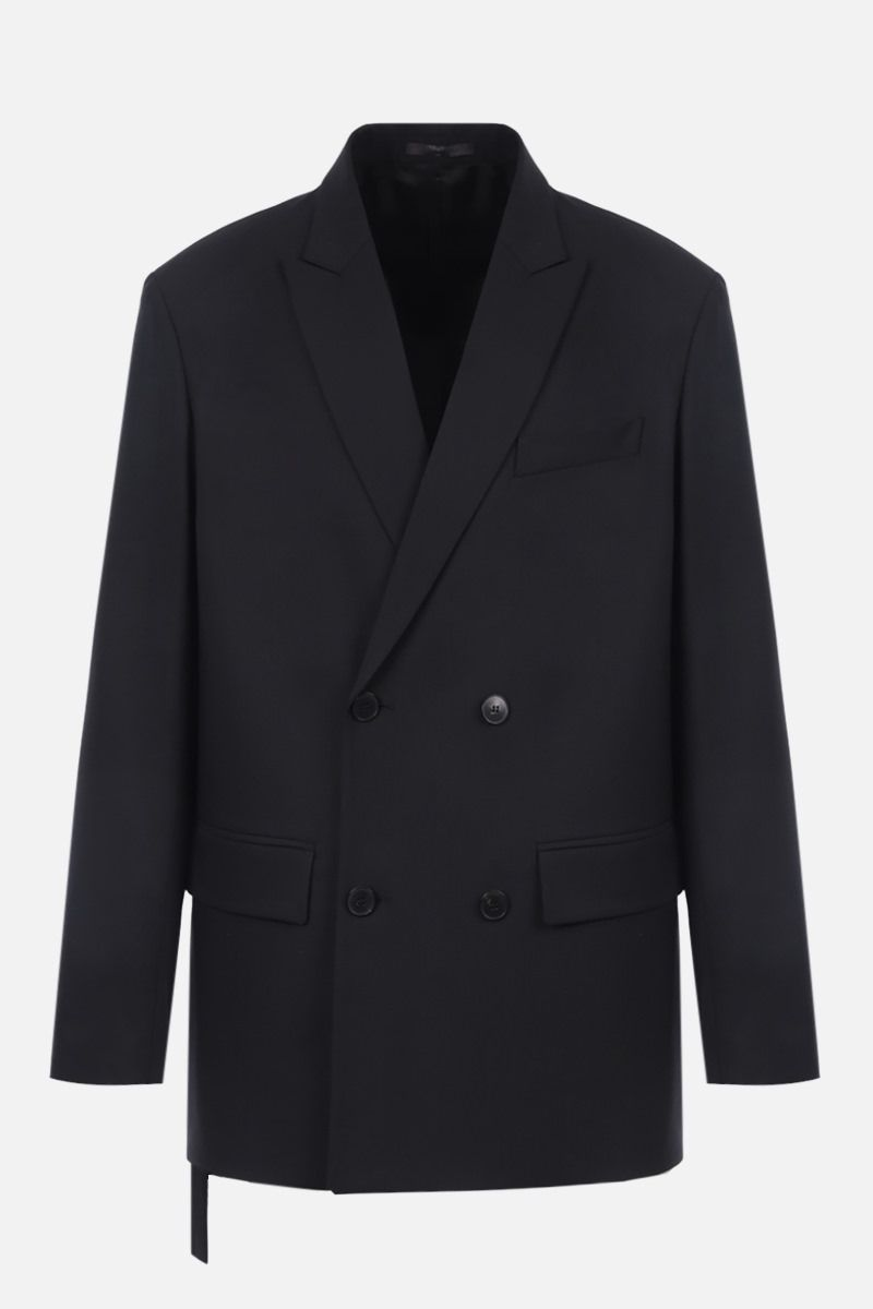 VALENTINO: double-breasted technical wool jacket Color Black_1