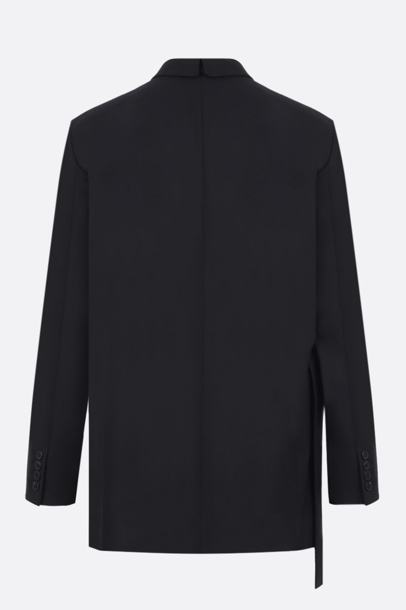 VALENTINO: double-breasted technical wool jacket Color Black_2