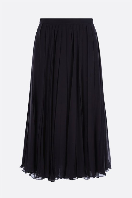 VALENTINO: chiffon pleated skirt Color Blue_1