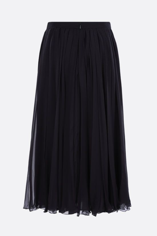 VALENTINO: chiffon pleated skirt Color Blue_2
