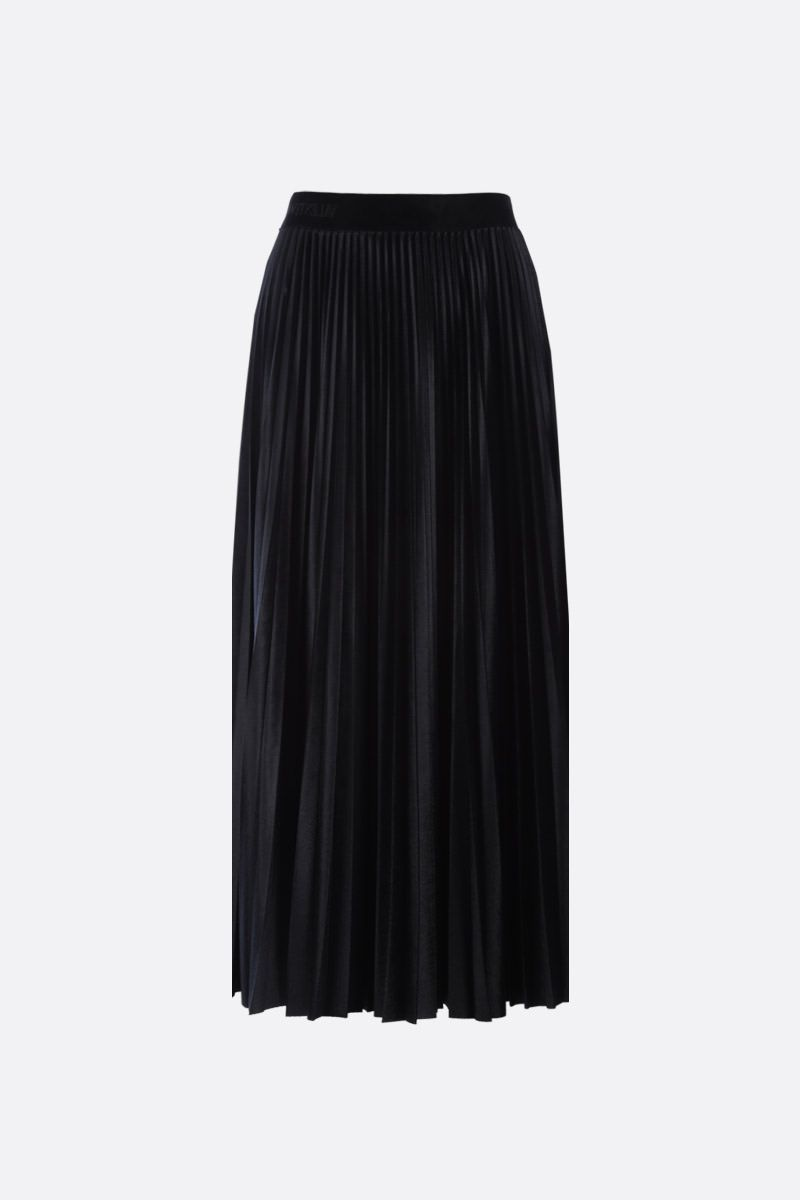 VALENTINO: jersey velvet pleated skirt Color Black_2