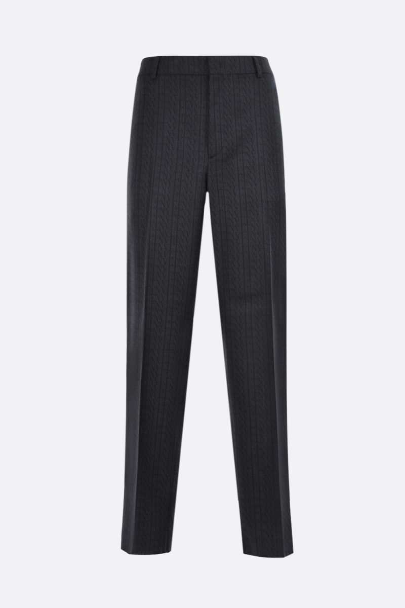 VALENTINO: VLTN TIMES printed wool straight-fit pants Color Grey_1