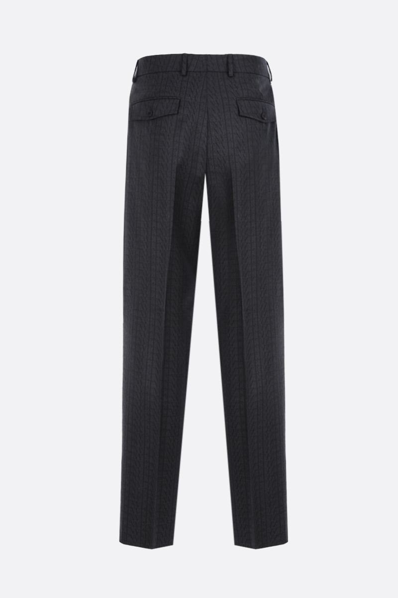 VALENTINO: VLTN TIMES printed wool straight-fit pants Color Grey_2