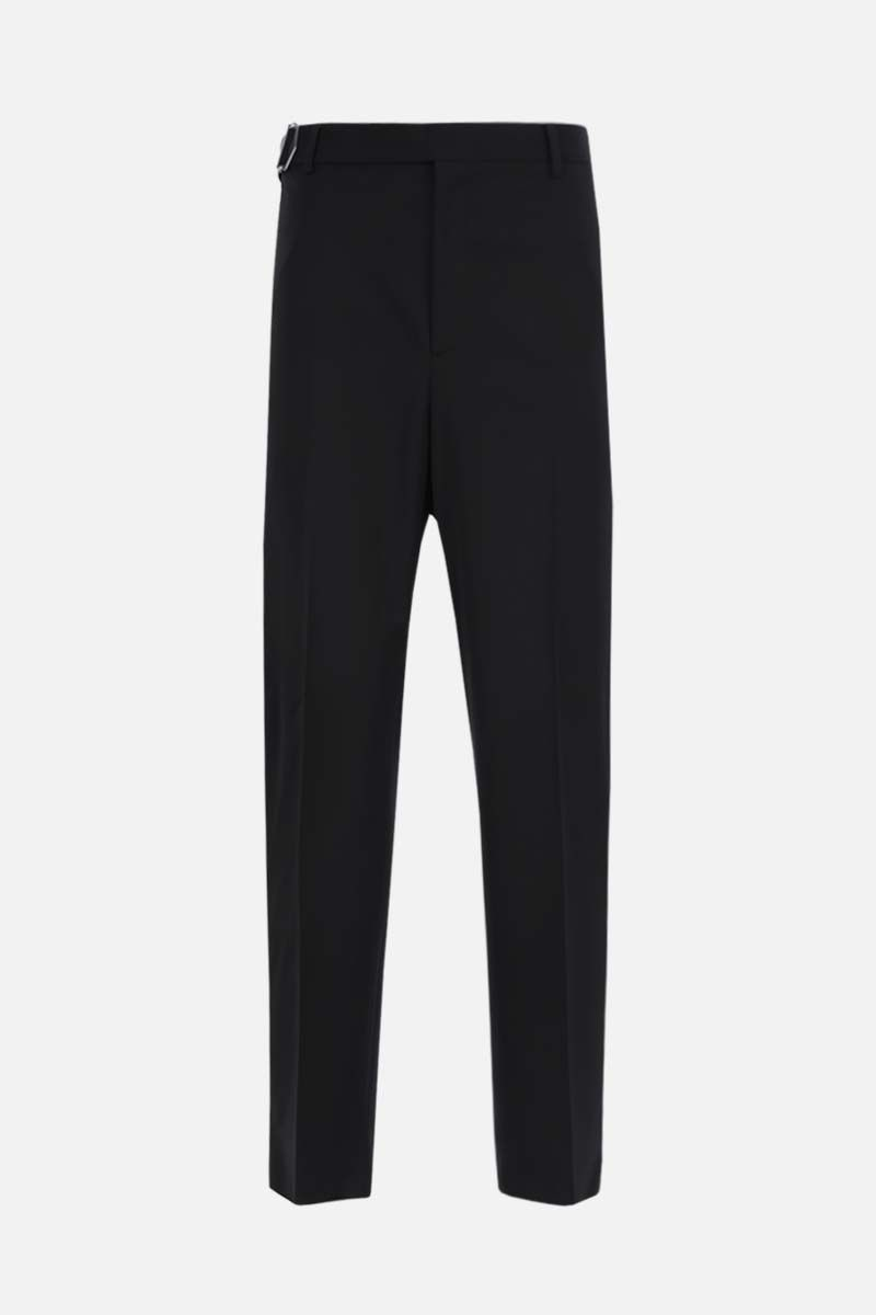VALENTINO: belt-detailed wool blend straight-fit pants Color Black_1