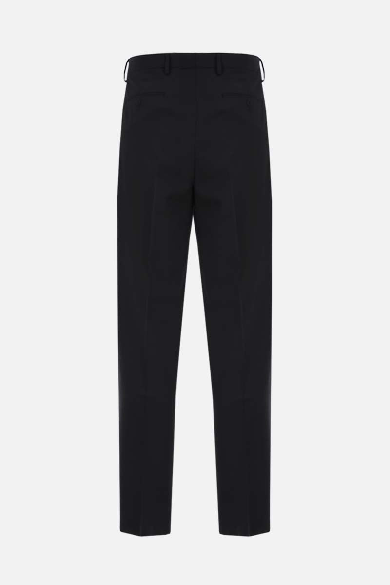 VALENTINO: belt-detailed wool blend straight-fit pants Color Black_2