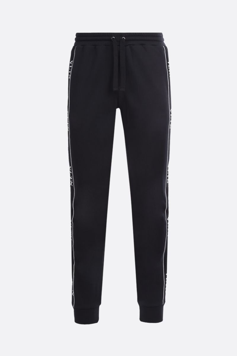 VALENTINO: VLTN cotton blend joggers Color Black_1